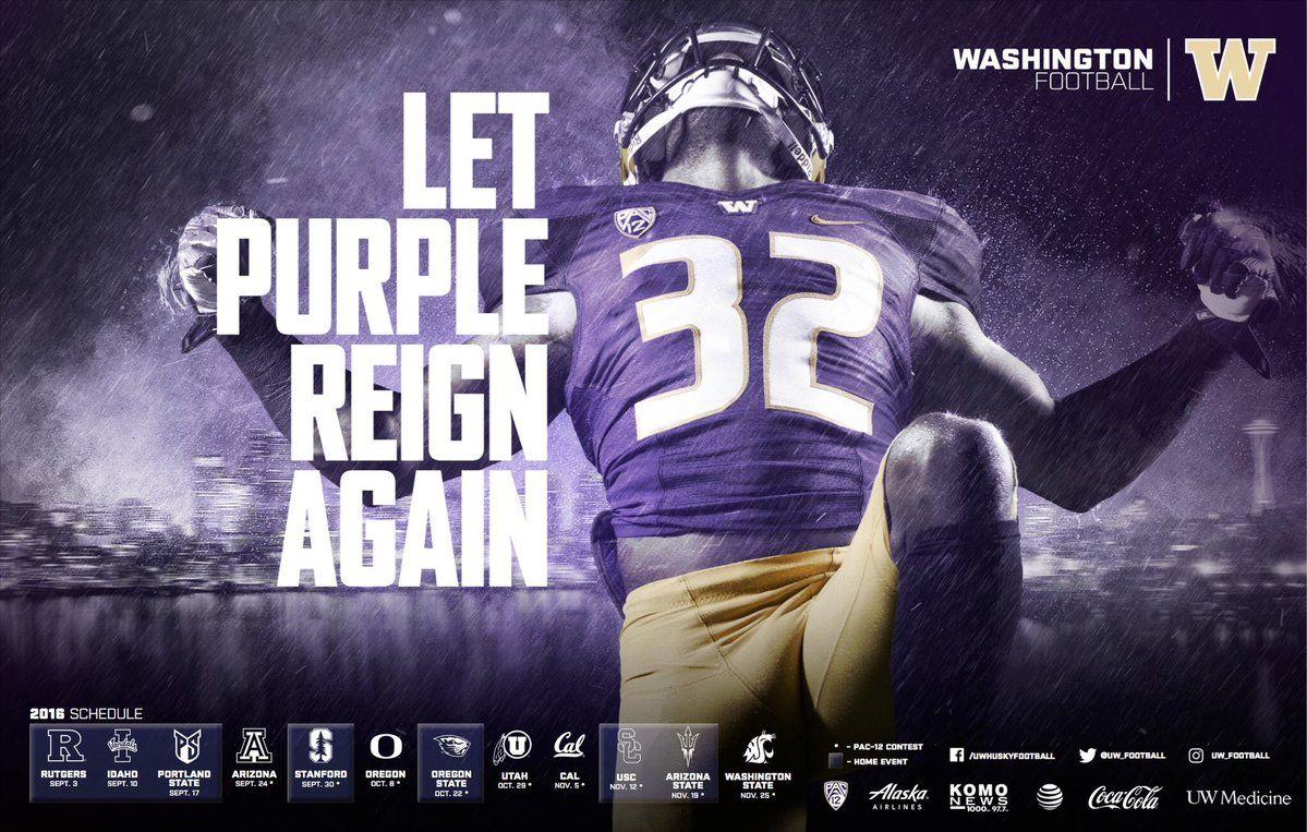 Poster Swag Posterswag Washington Football Washington Huskies Football Huskies Football