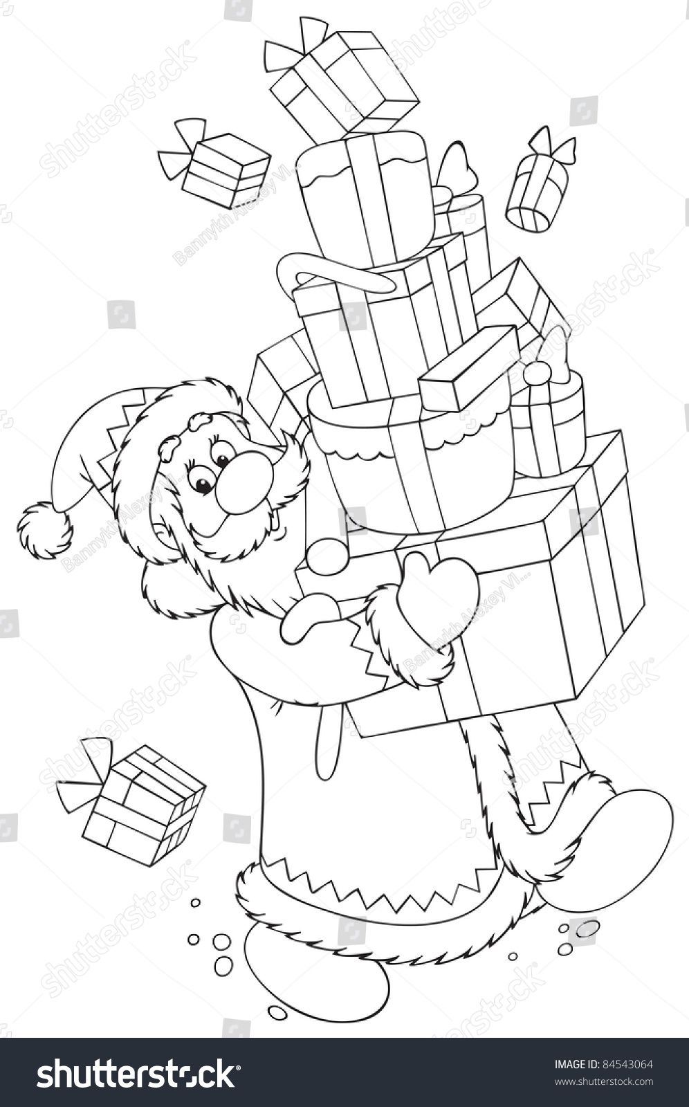 Santa Carrying A Large Stack Of Gifts Ad Affiliate Carrying Santa Large Gifts Christmas Coloring Sheets Santa Coloring Pages Disney Cross Stitch Patterns
