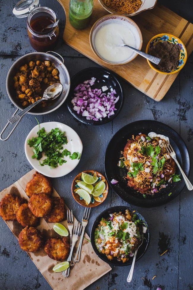 aloo tikki chaat recipe chaat indian food recipes street food on hebbar s kitchen recipes aloo tikki id=59990