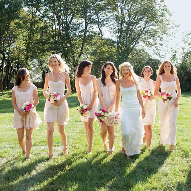 Elfenbein Schlichte Kleider Brautjungfern Boho Chic Hochzeit Kleider