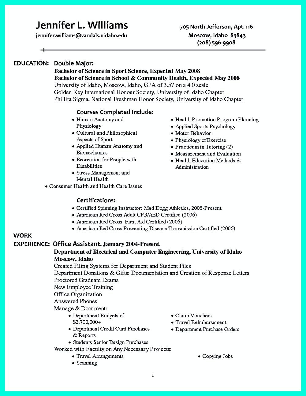 Well Written Resume Custom It Is Necessary To Make Well Organized College Golf Resumea Well
