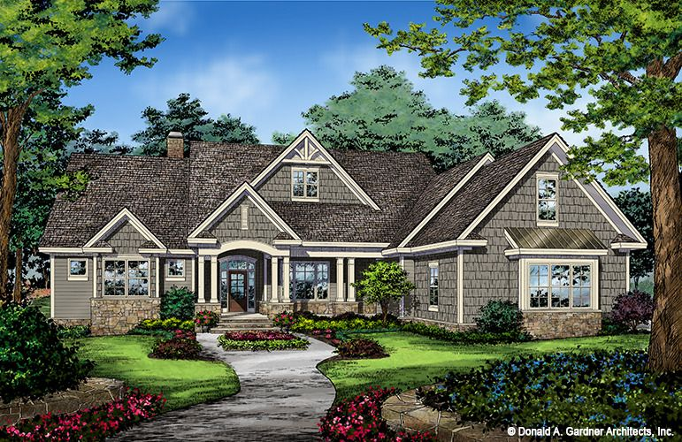Home Plan The Drake By Donald A Gardner Architects Ranch Style House Plans New House Plans House Plans One Story