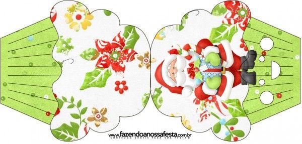 Convite Cupcake Natal
