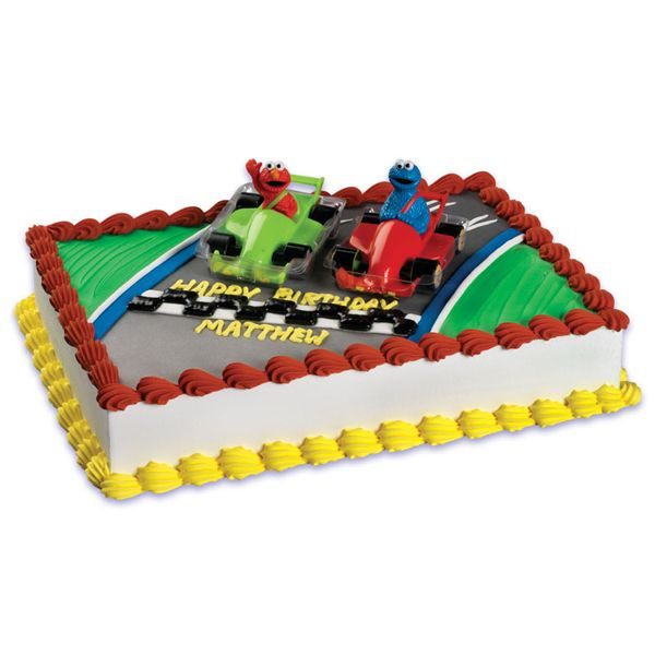 Sesame Street Racers Elmo And Cookie Monster Racing Cake