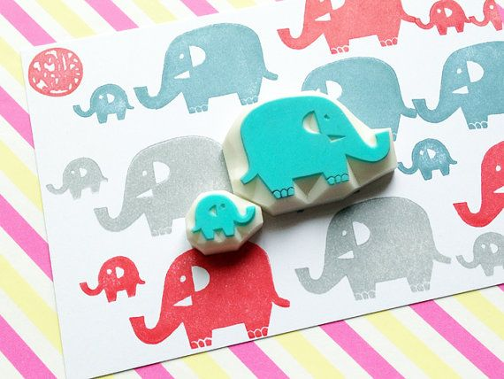 BABY ELEPHANT STAMPI-set Elefante