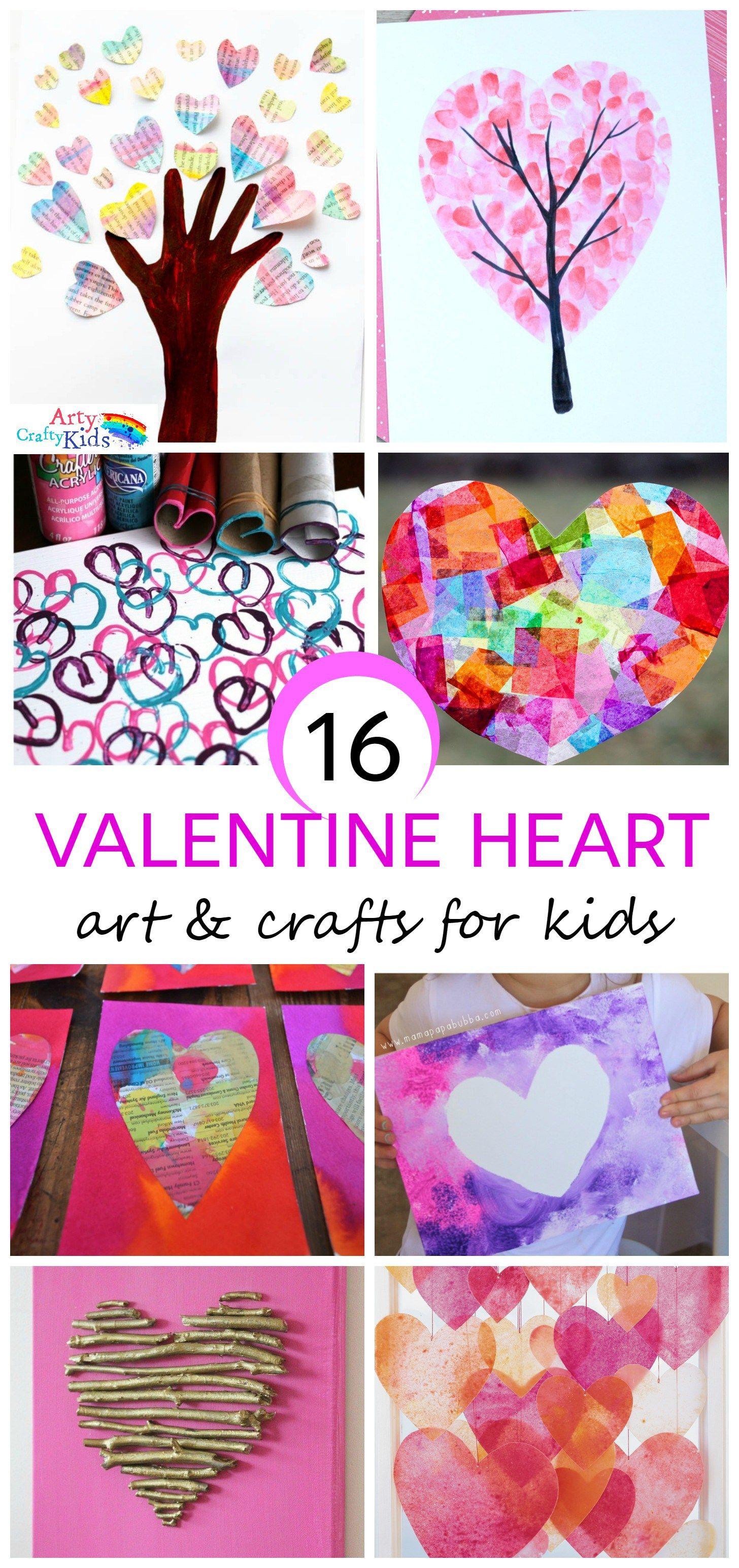 Quick and easy valentine crafts - 16 Kids Valentine Heart Craft Ideas