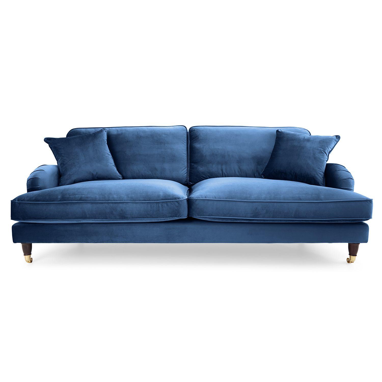 Cheap Furniture Delivered: Rupert 4 Seater Velvet Sofa