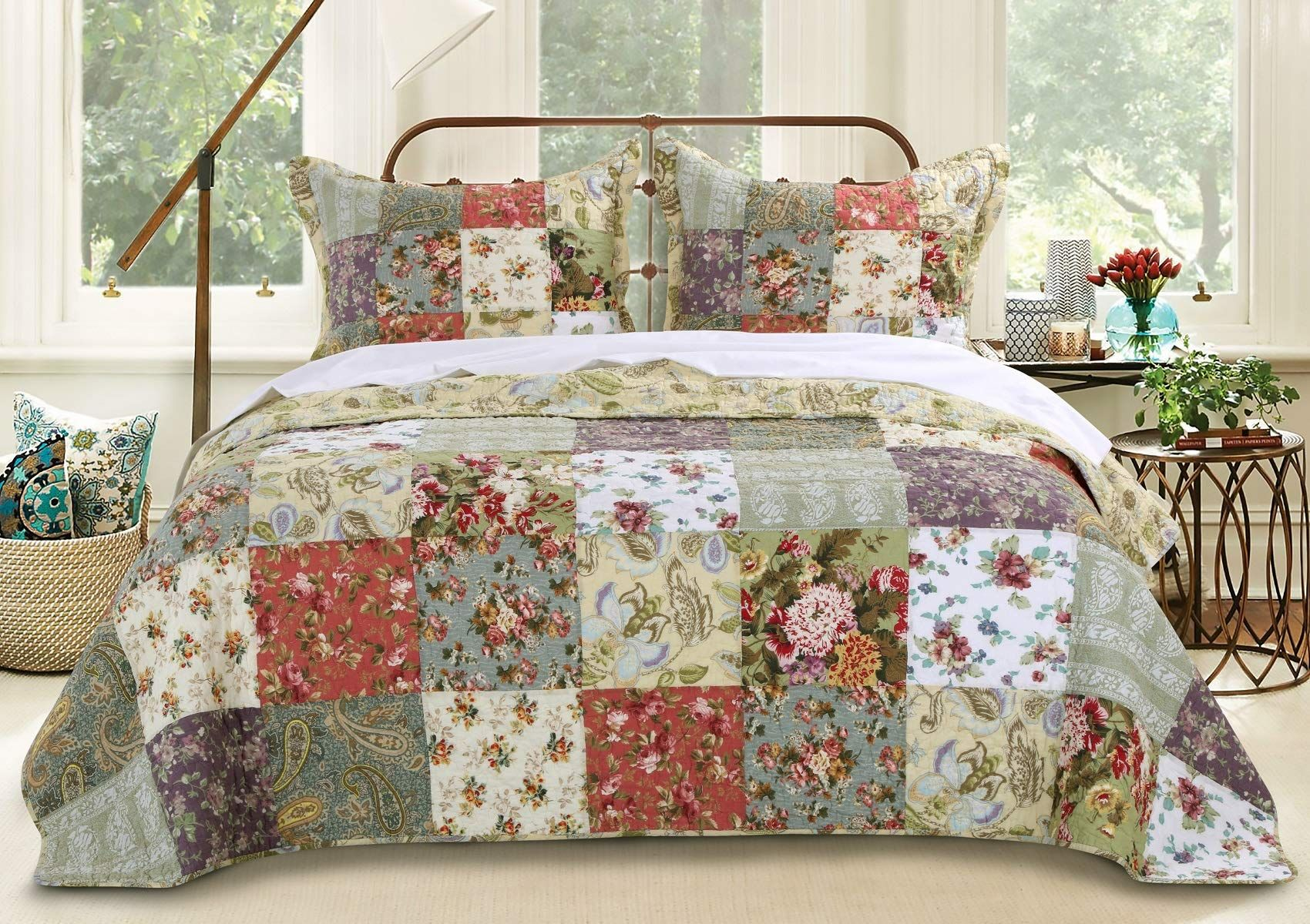 2 Piece Quilt Set Greenland Home Fashions Blooming Prairie