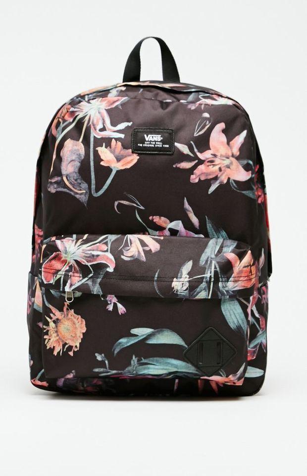 562723e43f Vans Old Skool II Floral School Backpack - Mens Backpacks - Black - NOSZ