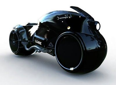 Scifi motorcycle