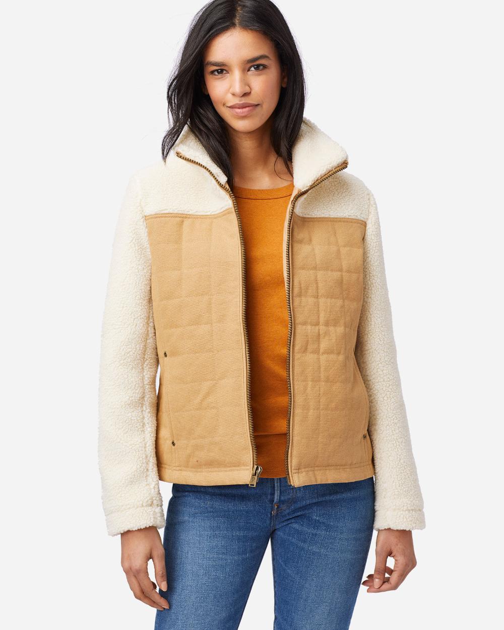 Women S Salida Canvas Sherpa Jacket Sherpa Jacket Wool Jackets Women Winter Coats Women Wool [ 1250 x 1000 Pixel ]