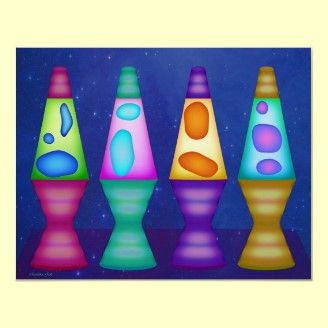 Lava Lamps Poster For Groovy Goofy Hippy Chix Cool Lava Lamps Lava Lamp Lava