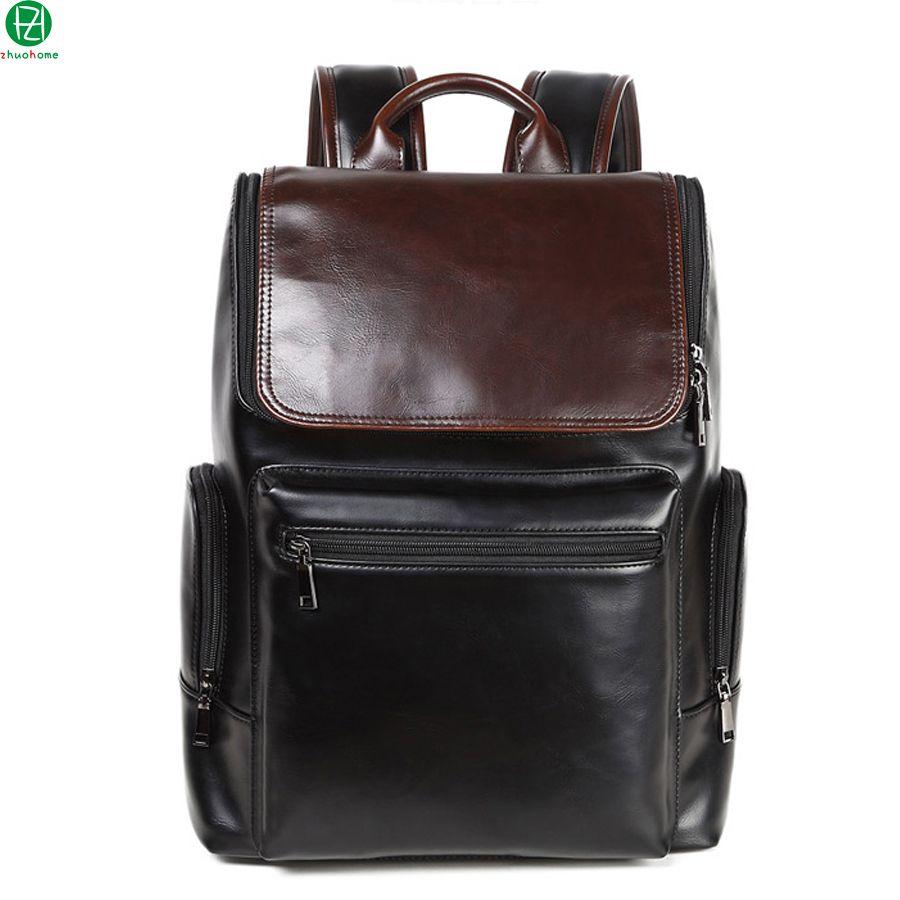 (Buy here: http://appdeal.ru/28ih ) carzy horse man backpack brand leather men travel duffel bag business men shoulder bag large vintage Laptop bag sacoche homme for just US $38.00