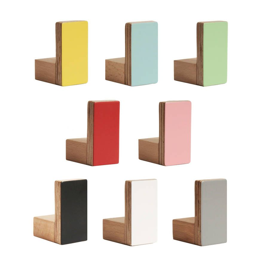wood colours for furniture. Colours Wall Hooks Wooden Rectangular Shape By Chocolate Creative Home Accessories | Notonthehighstreet.com Wood For Furniture L