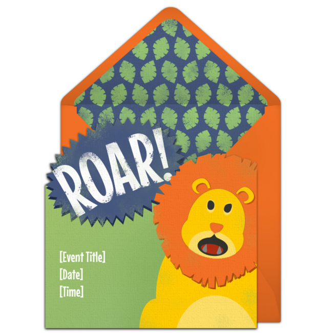 Free Roaring Lion Invitations Lion king birthday Free birthday
