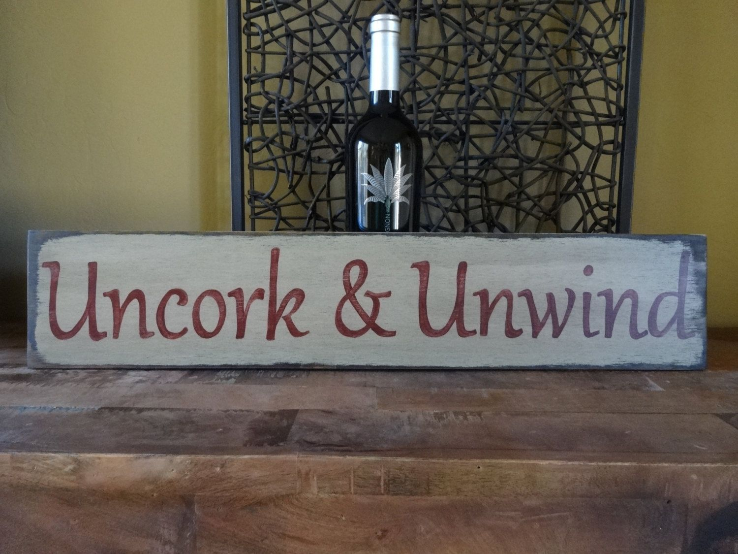 Wine Signs Decor Unique Uncork & Unwindhand Painted Wood Sign Wine Signs Wine Lover Design Decoration