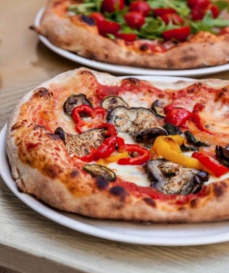 Pizza Vegana al Horno de Leña!