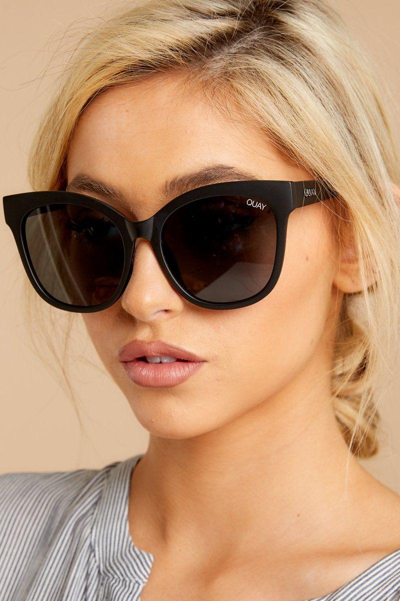 Quay It S My Way Sunglasses Oversized Black Sunnies Glasses 55 Red Dress Sunglasses Chic Sunglasses Sunglasses Women Fashion