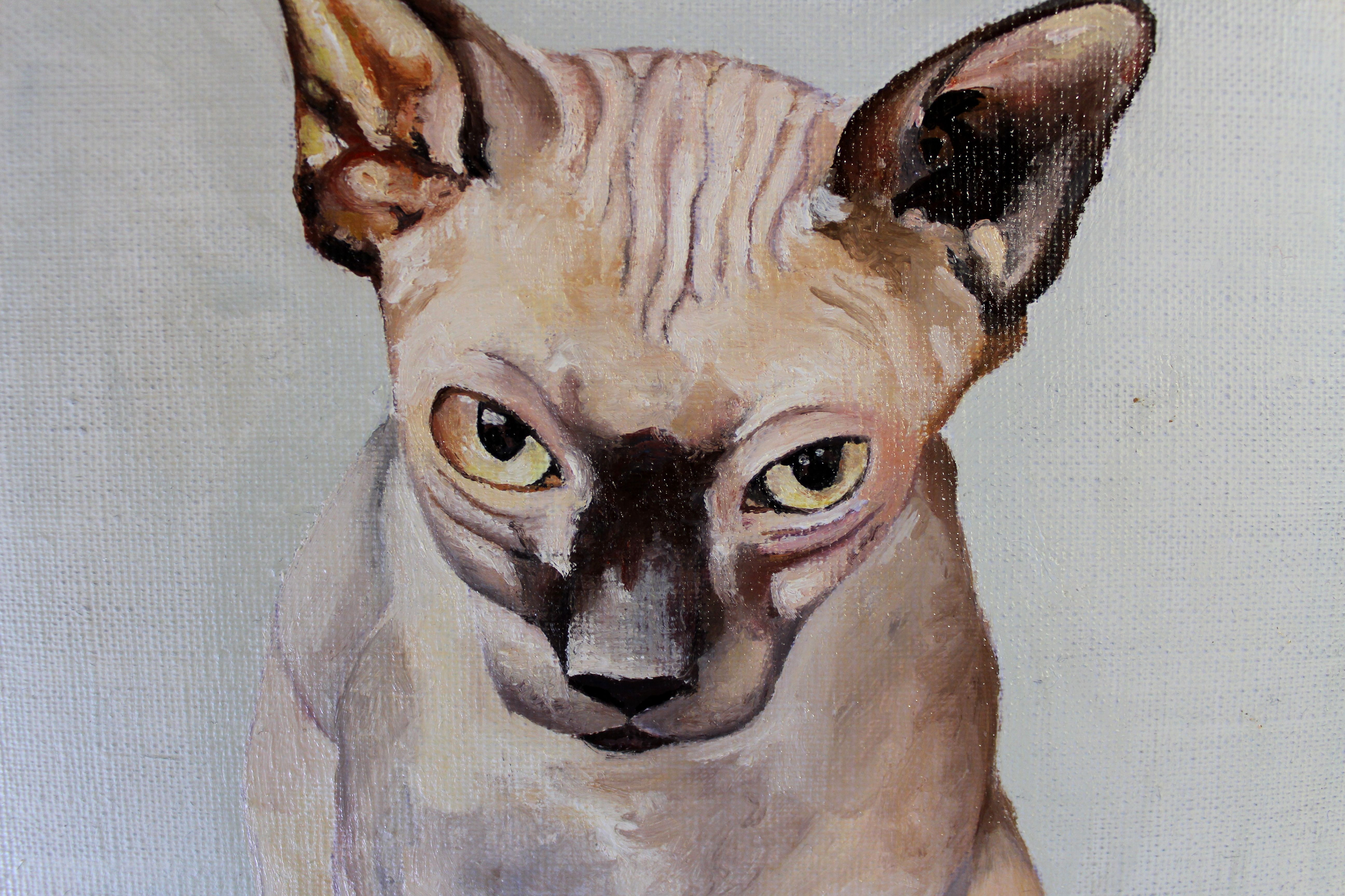 Artwork by Victoria Coleman Dog art, Cat yawning, Animal