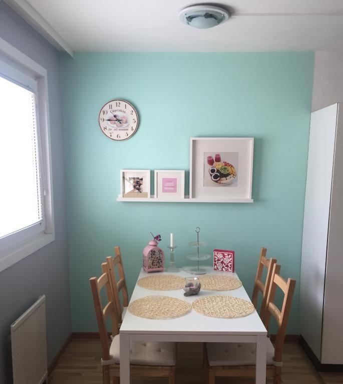 Frische Farben für den Sommer Schöner Essbereich in Wiener - wandgestaltung mit farbe küche