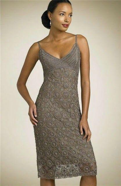 Abito Uncinetto Elegante Spalline Sottili Dresses Vestitini