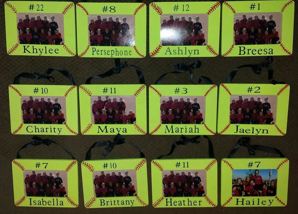 Softball Picture Frames - DIY | Craft Ideas | Pinterest | Softball ...