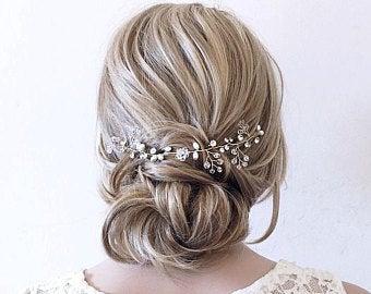 Hair Pieces For Wedding Etsy In 2020 Wedding Hair Pieces Wedding Hair Head Piece Hair Vine