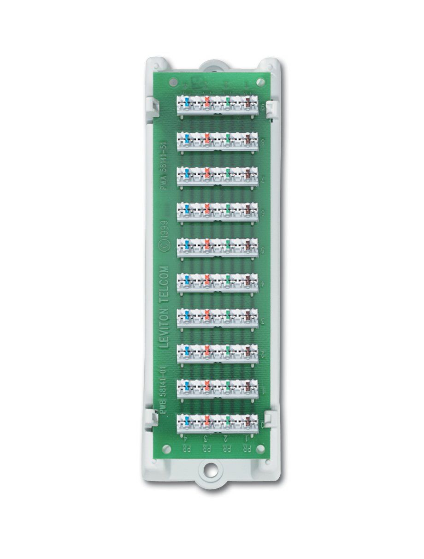 Leviton 47689-B 1x9 Bridged Telephone Module (with bracket ...