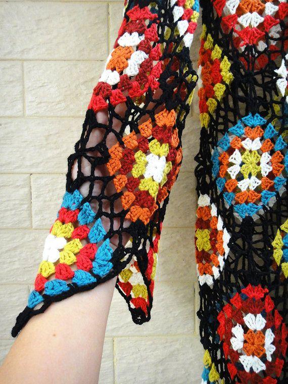 Crochet Granny Square Dress Long Sleeves | Crochet Inspiring Ideas ...
