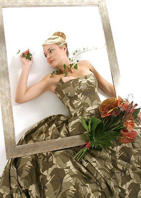 A camouflage dress designed by the artist Erika Sarkozi. | Bizaare ...