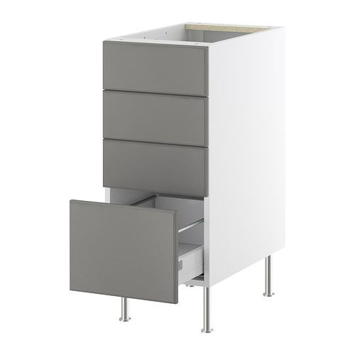 AKURUM Base Cabinet With 4 Drawers IKEA Built In Dampers Make The Doors  Close Slowly
