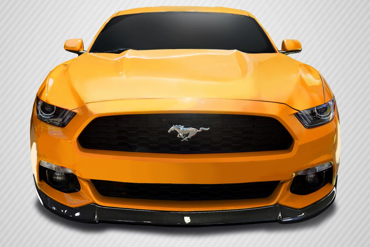 Welcome to extreme dimensions inventory item 2015 2017 ford mustang carbon creations cvx front lip spoiler 1 piece