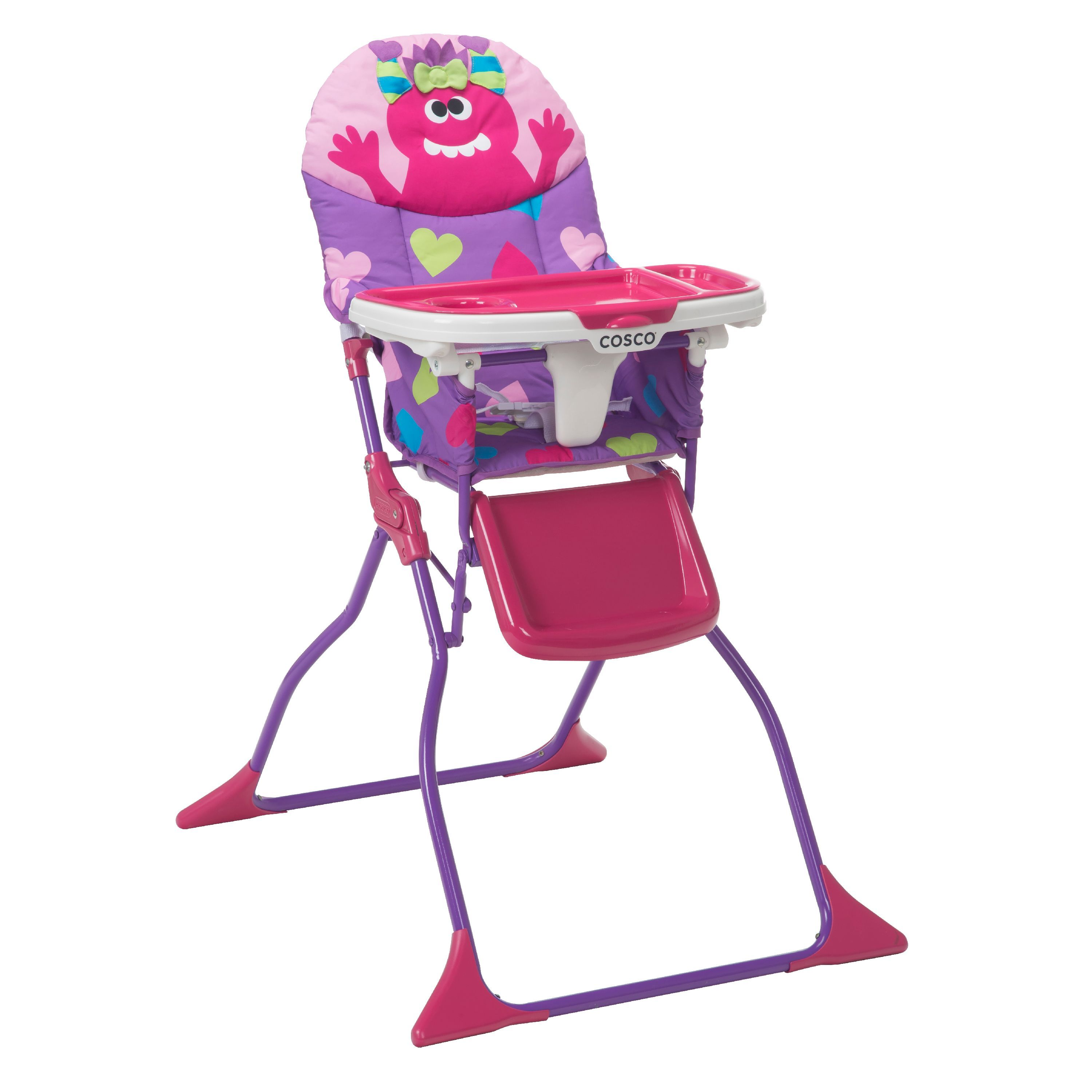 Cosco Simple Foldaaa Deluxe High Chair Monster Shelley In 2020 High Chair Cosco Chair