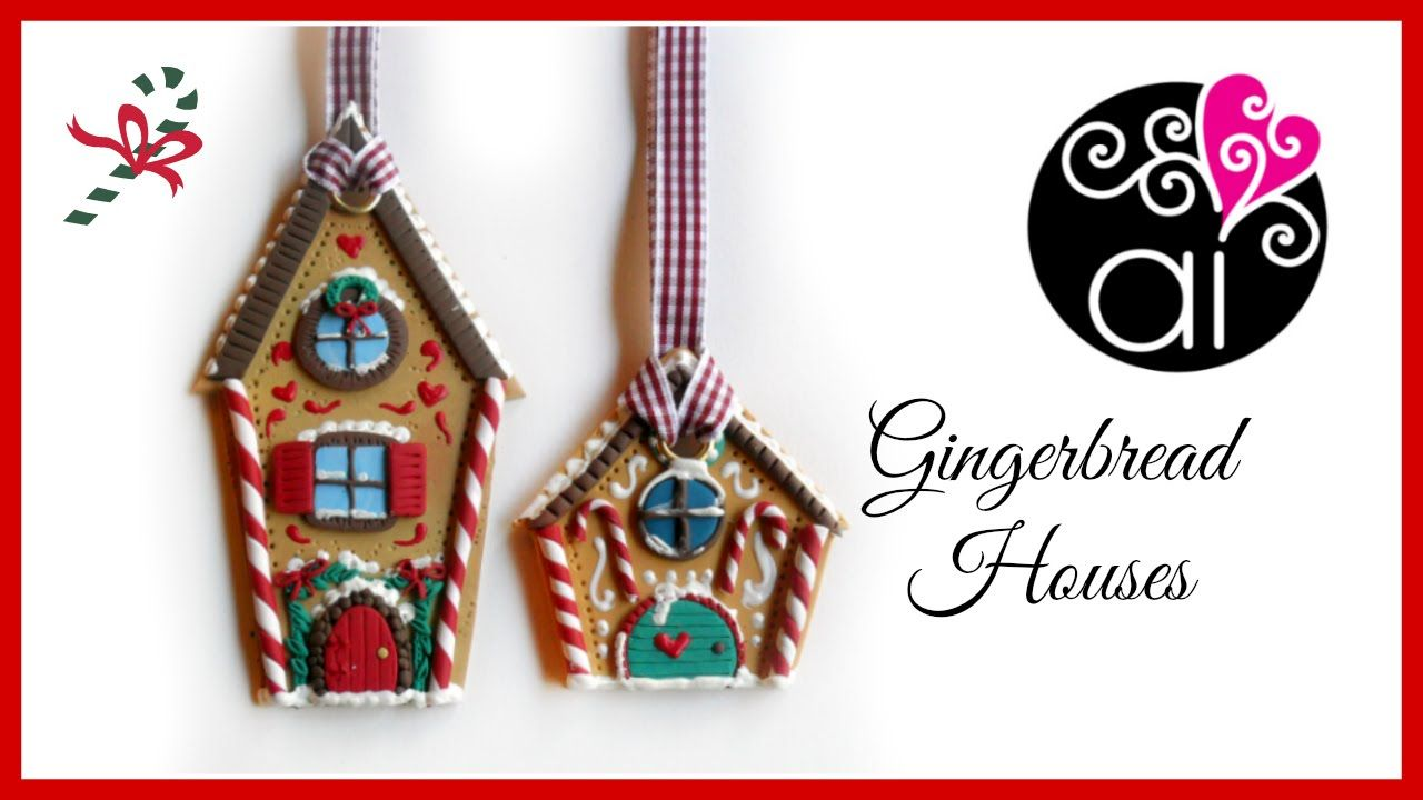 Diy gingerbread houses polymer clay christmas decorations diy gingerbread houses polymer clay christmas decorations tutorial fimo buone feste youtube solutioingenieria Image collections