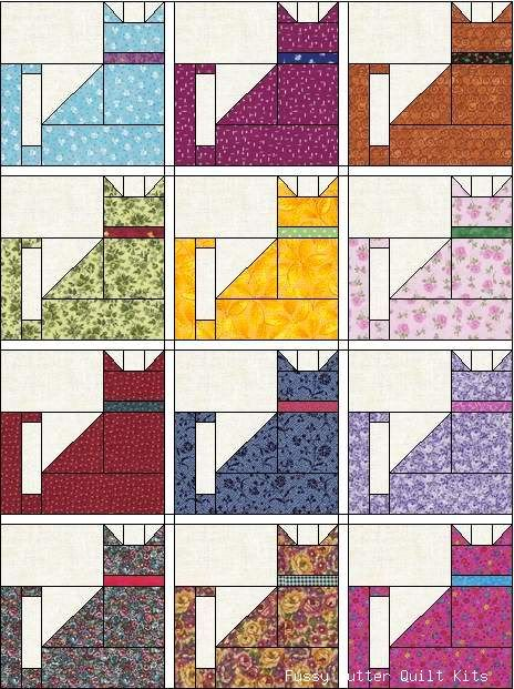 Cat Quilt Ziggy Tail Hideous Colors But Fun Pattern