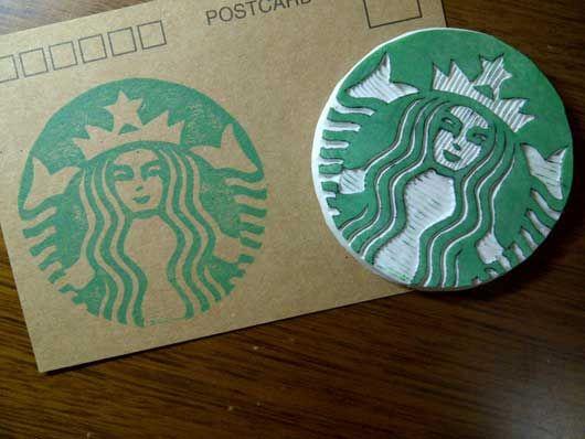 Starbucks-Logo--Rubber-stamp