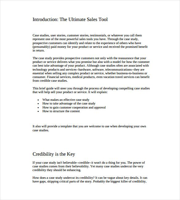 The ultimate case study example template free download is a well - executive briefing template