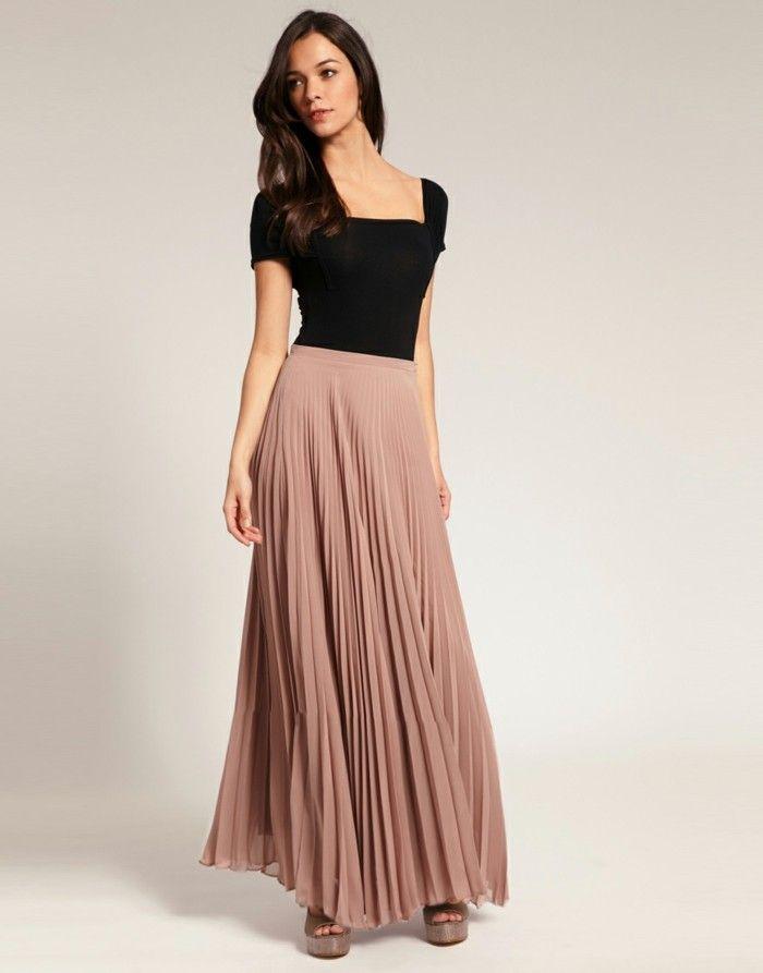 comment porter la jupe longue pliss233e 80 id233es summer