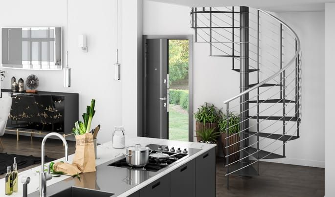 Best The Barrot Stainless Railing Spiral Stairs Spiral 400 x 300
