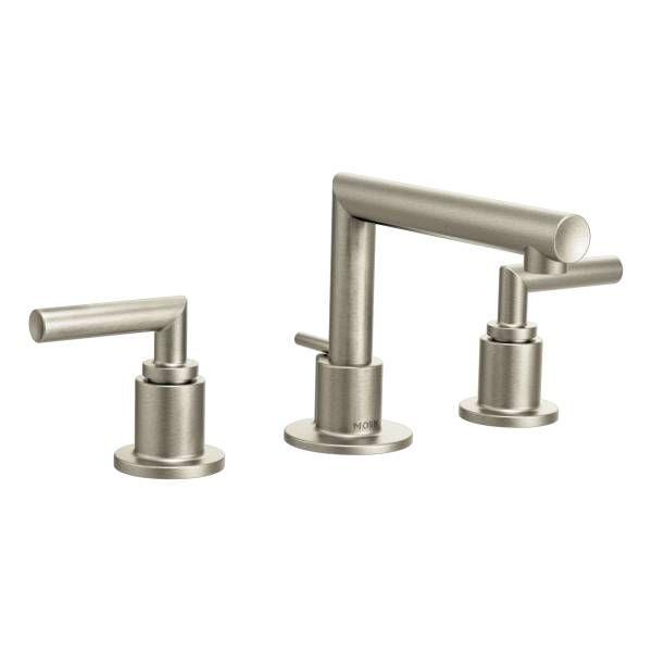 arris brushed nickel two handle low arc bathroom faucet ts43002bn bathroom sinksmoen bathroom fixturesplumbing - Moen Bathroom Fixtures