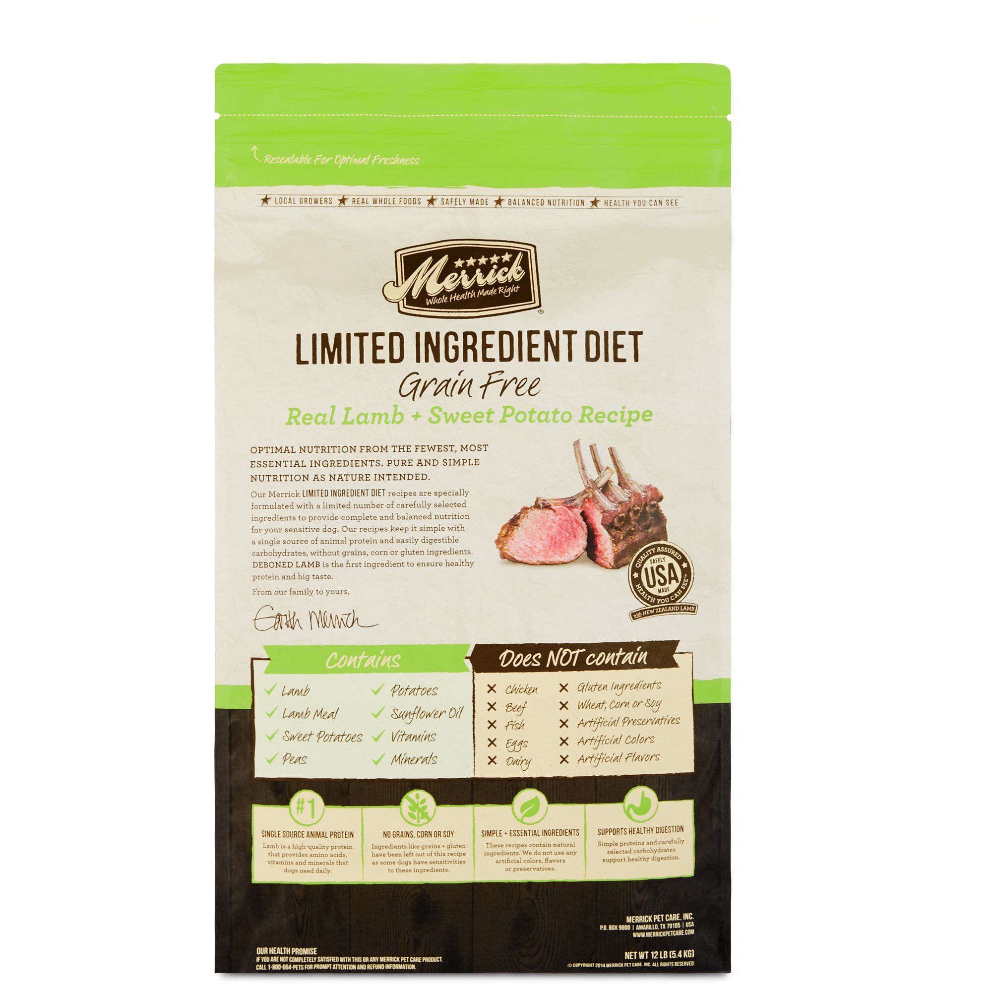 Merrick Grain Free Limited Ingredient Diet Lamb Dry Dog Food 4