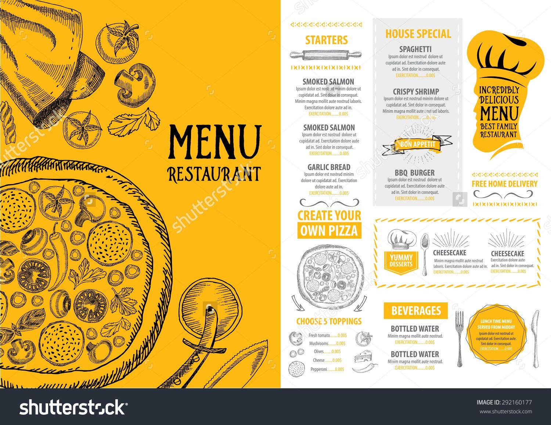 Restaurant cafe menu template design Food flyer – Free Cafe Menu Templates for Word