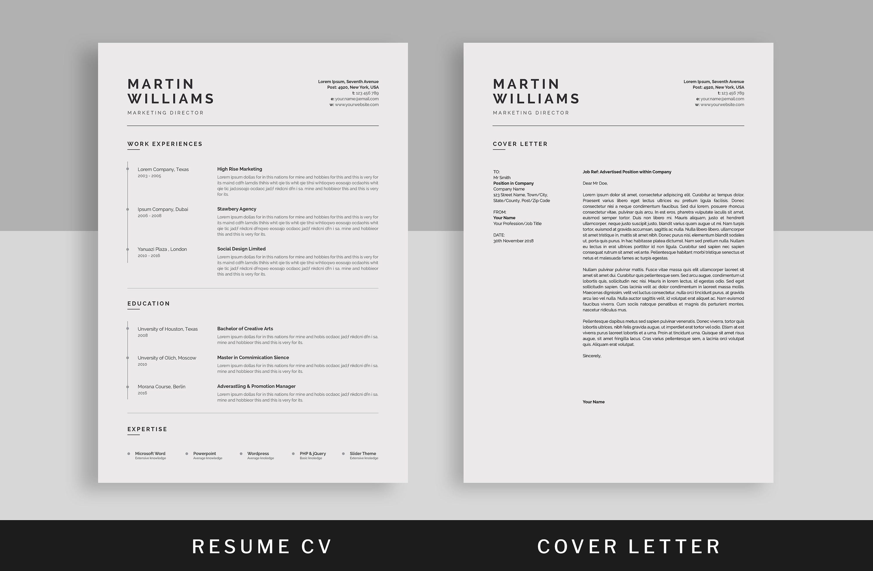 Resume Cv Minimalist Resume Template Indesign Resume Template Resume Design Template
