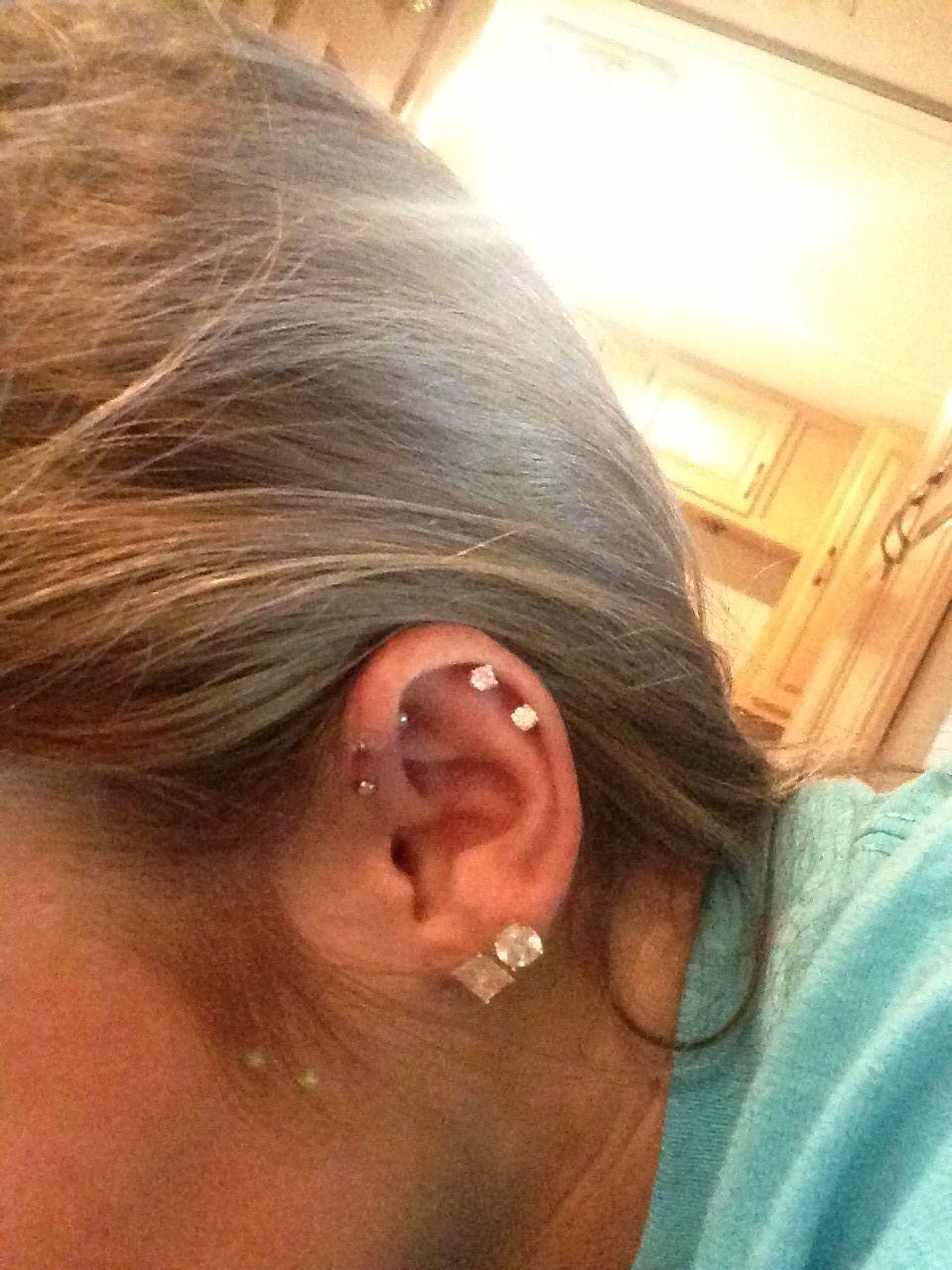 Microdermal piercing ideas  Ear piercings  tattoosupiercings  Pinterest  At the top The top