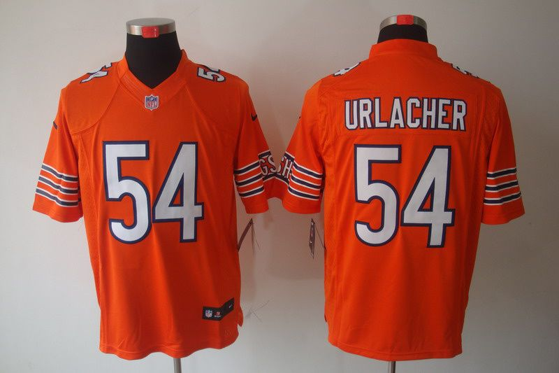 e296f0409 Brian Urlacher Limited Jersey Orange  54 Nike NFL Chicago Bears Jersey  23