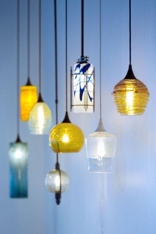 hand blown art glass pendant lights