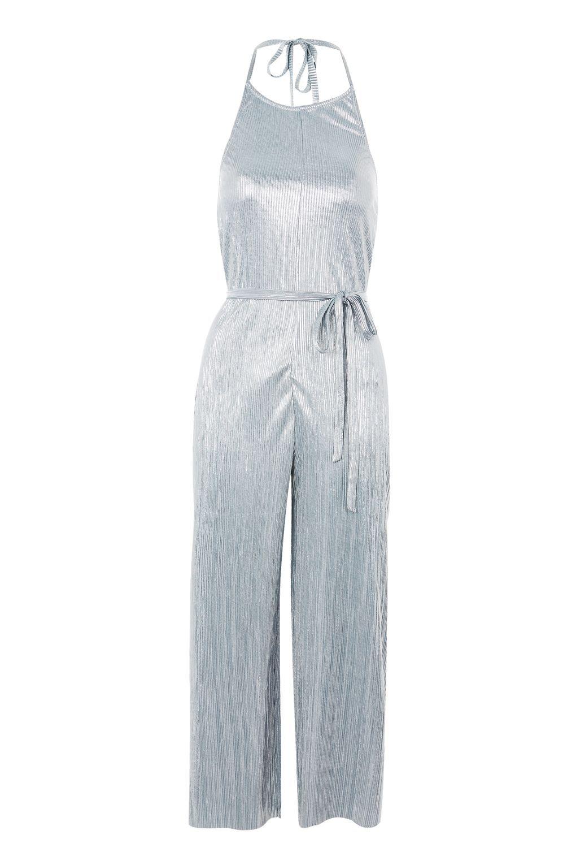 3f5548e8d70 Halter Plisse Jumpsuit - Rompers   Jumpsuits - Clothing