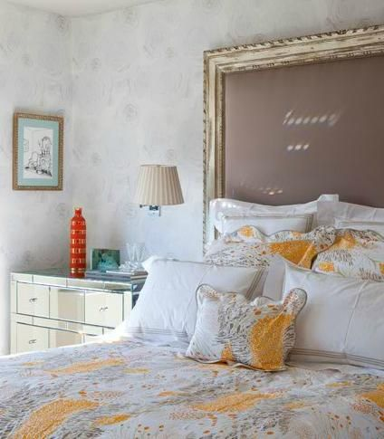 picture frame headboard- my most favorite idea yet. :) | guest room ...