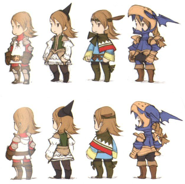 Ffiii ds jobs concept art 626 623 pixels ff for Character designer job