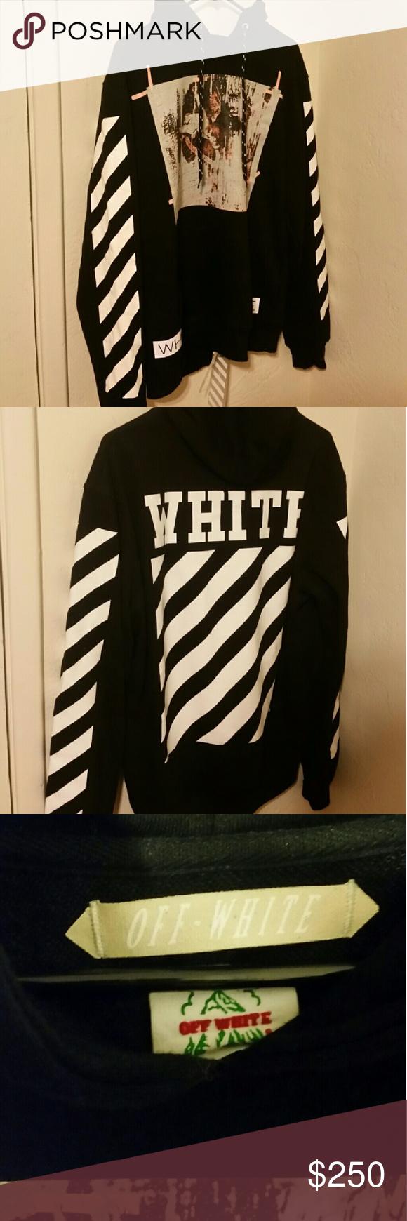 Off White C O Black Caravaggio Hoodie W Receipt Worn Once For Less Than An Hour Still Has Tags Receipt Shown Upon Requ Clothes Design Fashion Design Fashion